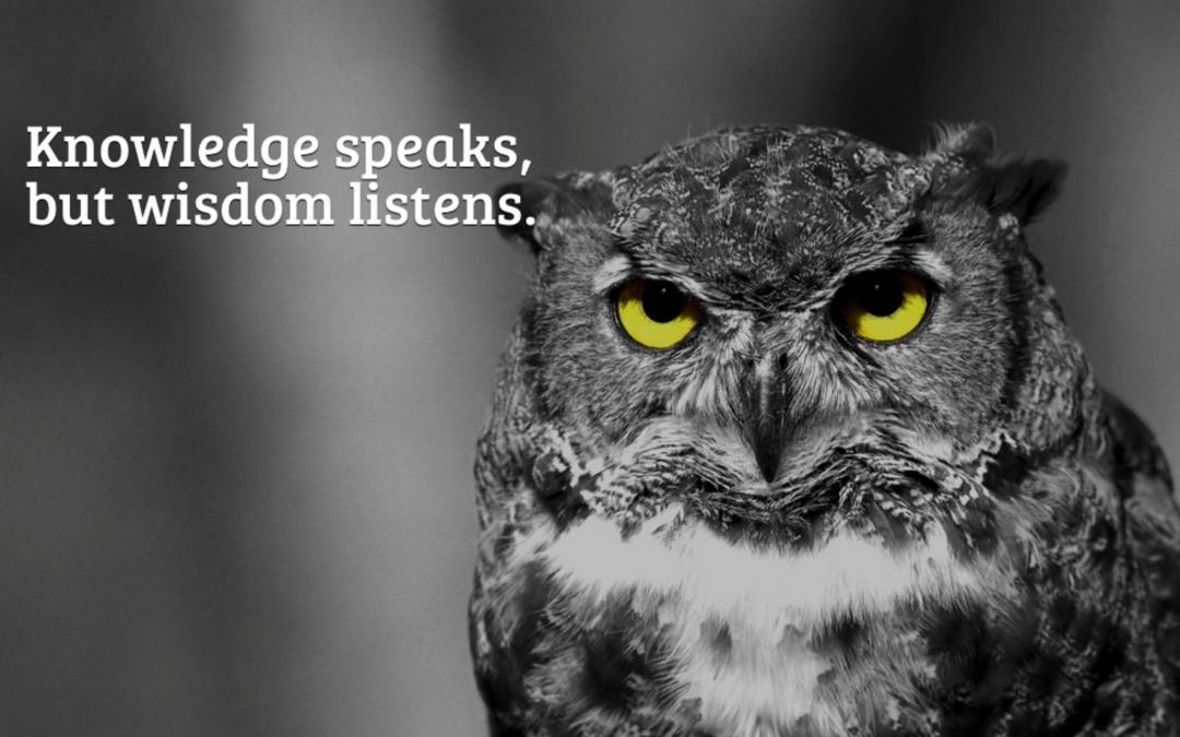 Lyssna till visdom