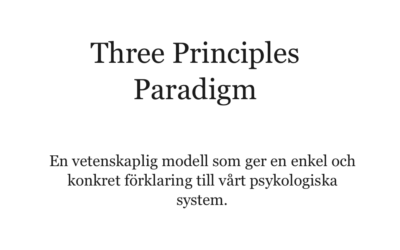 Three Principles Paradigm